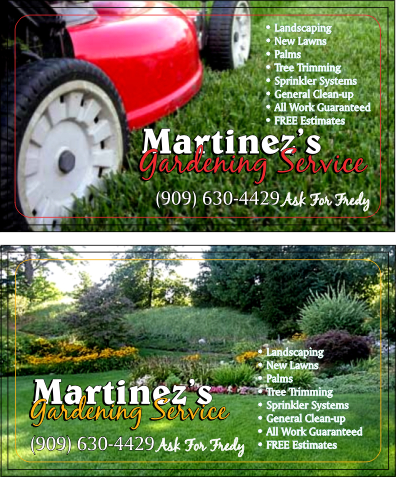 Calico graphics riverside california 92506 business card gallery custom business card design martinez landscaping colourmoves